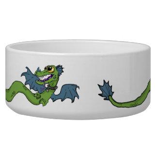 Wrap Around Dragon Dog Bowl