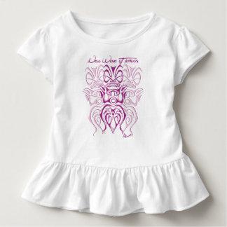 Wrap baby girl 3 tiki toddler t-shirt