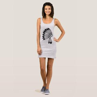 Wrap docker indian style sleeveless dress