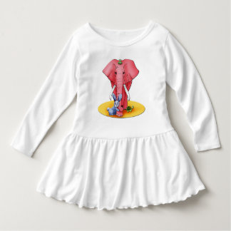 """Wrap long sleeves baby, """"the four Buddies """" Dress"""