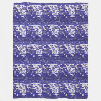 Wrap Yourself in centuries of Blue Willow Lore Fleece Blanket