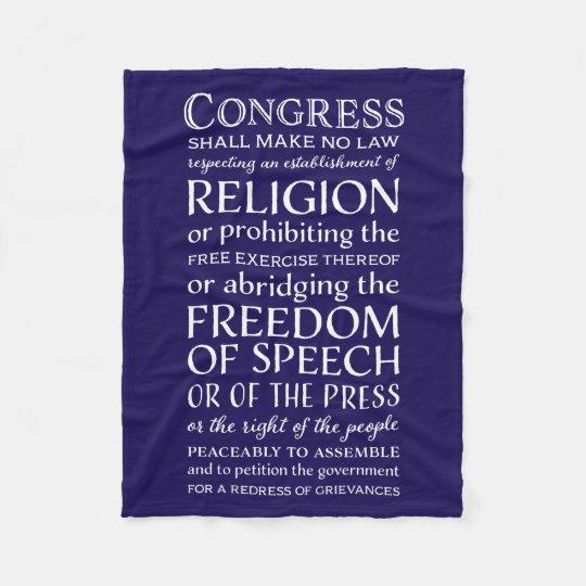 Wrap Yourself in the First Amendment - Free Speech Fleece Blanket