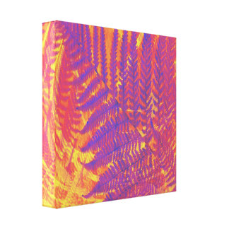 wrapped canvas abstract fern  nature art