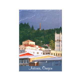 Wrapped Canvas- Astoria Oregon Canvas Print