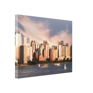 Wrapped Canvas NYC Lower Manhattan Skyline