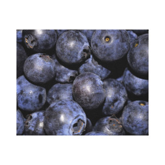 "Wrapped Canvas Photograph-""Blueberries"""