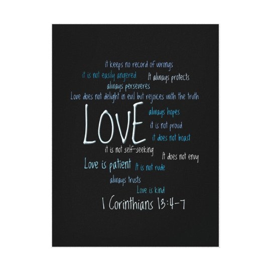 Wrapped Canvas Print - Love Is Patient Mix