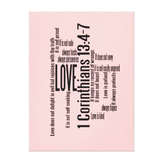 Wrapped Canvas Print - Love is Patient Mix BPink