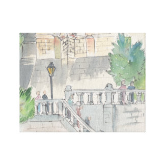 "Wrapped Canvas ""Watercolor Sketch/Chateau of Blois"