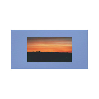 Wrapped Canvas with Sunset Scene