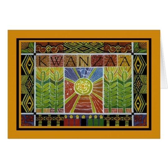 Wrapped In Kwanzaa Holiday Greeting Cards