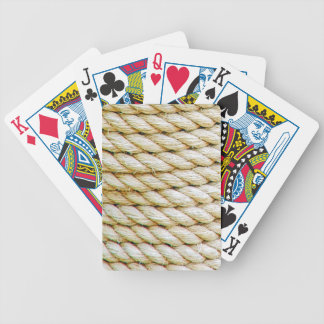 Wrapped rope bicycle playing cards