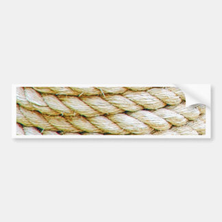 Wrapped rope bumper sticker