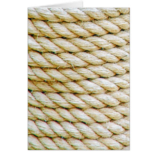 Wrapped rope card