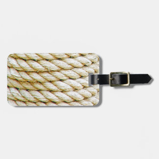 Wrapped rope luggage tag