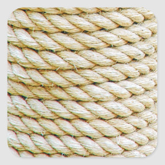 Wrapped rope square sticker