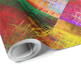 Wrapping Paper 2'x30' Roll Abstract Art Design