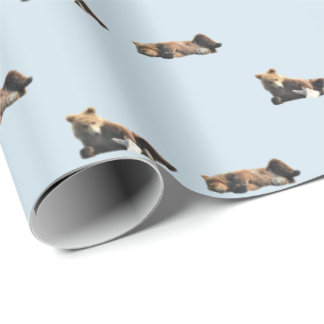 Wrapping paper, bear cubs, baby shower wrapping paper