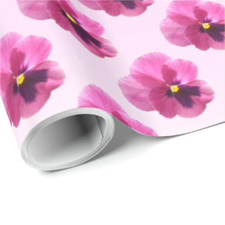 Wrapping Paper - Dark Pink Pansy