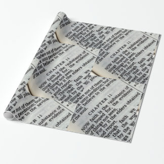 Wrapping Paper- Hebrews 11:1 Faith Scripture Wrapping Paper