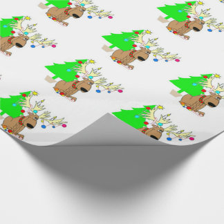Wrapping Paper/Reindeer & Christmas Tree