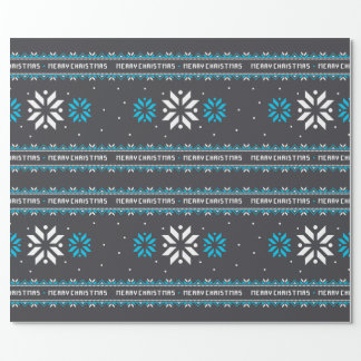 Wrapping Paper - Ugly Christmas Sweater  Black