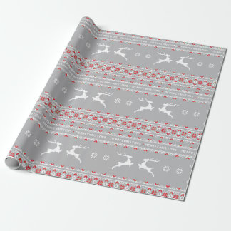 wrapping Paper - Ugly Christmas Sweater Grey