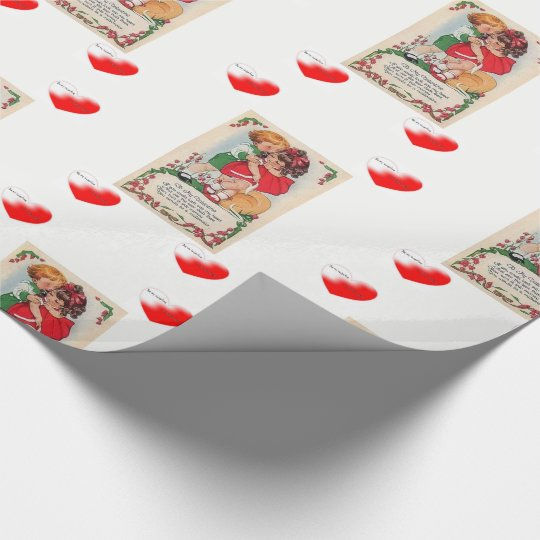 Wrapping paper Valentines