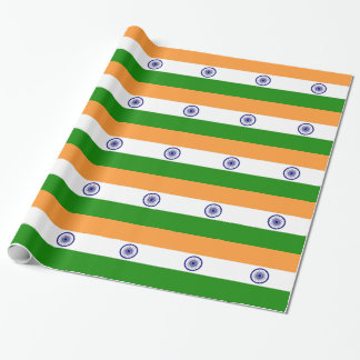 Wrapping paper with Flag of India