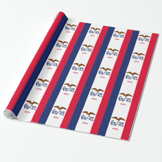 Wrapping paper with Flag of Iowa