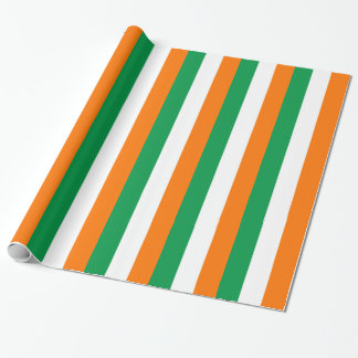 Wrapping paper with Flag of Ireland