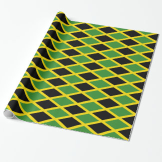 Wrapping paper with Flag of Jamaica