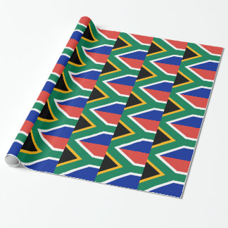 Wrapping paper with Flag of South Africa