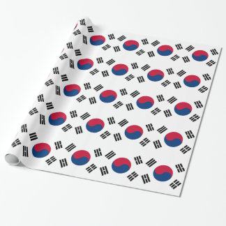 Wrapping paper with Flag of South Korea