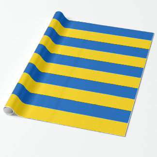Wrapping paper with Flag of Ukraine