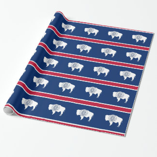 Wrapping paper with Flag of Wyoming
