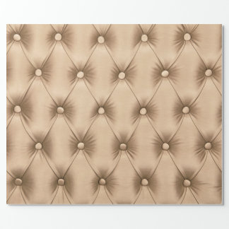 Wrapping paper with pastel beige capitone texture