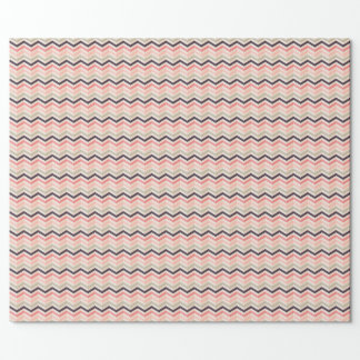 Wrapping paper with pink chevron pattern