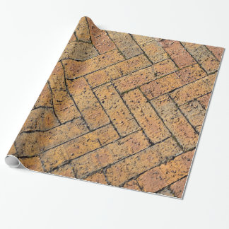 Wrapping Paper with Red Brick Herringbone Pattern