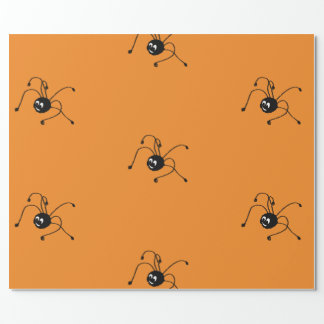 Wrapping Paper with spider
