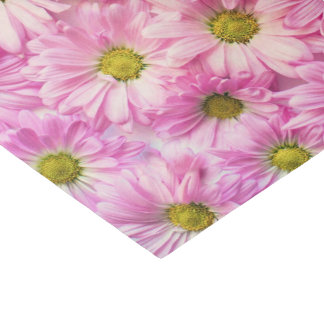 Wrapping Tissue - Pink Gerbera Daisies Tissue Paper