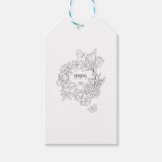 Wrath Of Spring Flowers Hand Drawn Gift Tags
