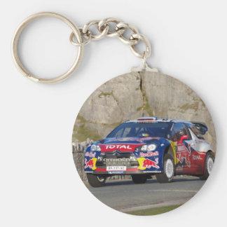 WRC Rally Car Cover Basic Round Button Keychain
