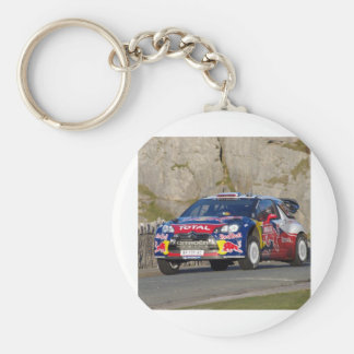 WRC Rally Car Cover Basic Round Button Keychain