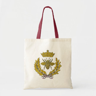 Wreath & Bee & Crown in Gold Tote Bag