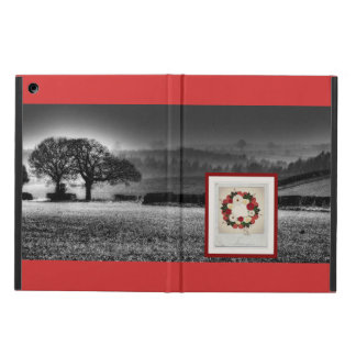 "Wreath ""Big Hearts"" Red/White Flowers iPad Case"