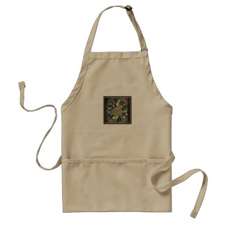 "Wreath ""Blooming Buttons"" Buttons Pine Cones Apron"