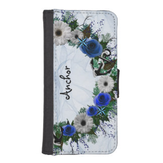 "Wreath ""Blue Anchor"" Flowers Floral Phone Case"