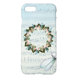 "Wreath"" Blue Dot"" Apple iPhone 8/7 Matte Case"