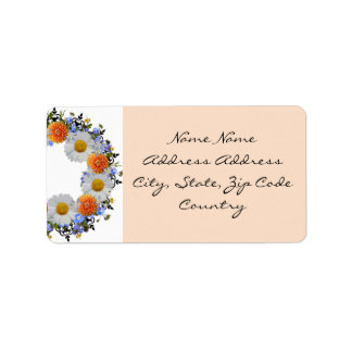 Wreath Daisy Flowers Floral Vector Address Labels